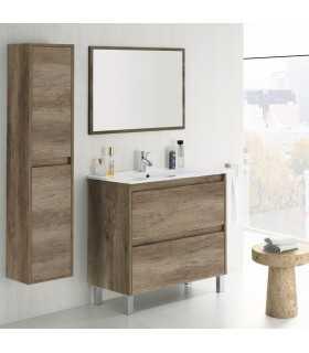 305040H + 305910O - Mueble 2 cajones + lavabo + Espejo - Arkitmobel Dakota