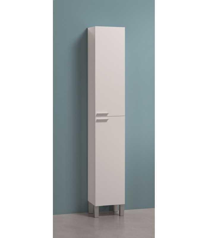 Mueble de ba o columna con 2 puertas 4 estantes aktiva for Mueble columna bano