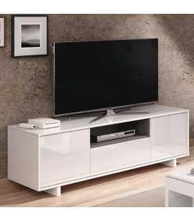 Mesa Tv Zaira 150 cm. Blanco Brillo