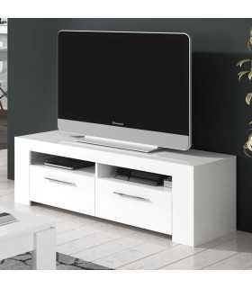 Mesa Tv Ambit Urban 120 cm. Blanco Brillo