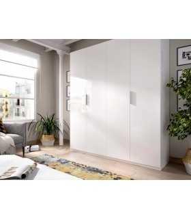 Armario ropero Essen 180 4 puertas blanco brillo