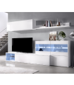 Mueble de Salón Tv Uma.Leds Rinconero 260cm. Blanco Brillo